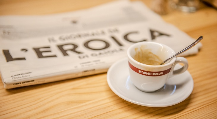 THE EROICA CAFFE MENU'